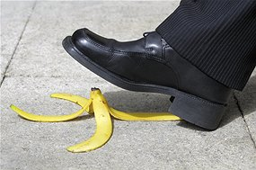 Slip up: We all know the banana peel is slippery, even though most of us haven't seen it (Source: BrianAJackson/iStockphoto)