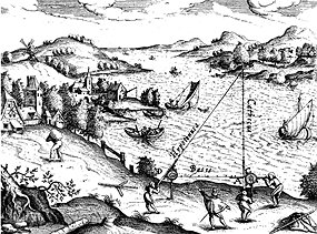 In 1533, cartographer Gemma Frisius wrote about using triangulation to work out the exact locations of faraway places (Source: Wikimedia Commons)